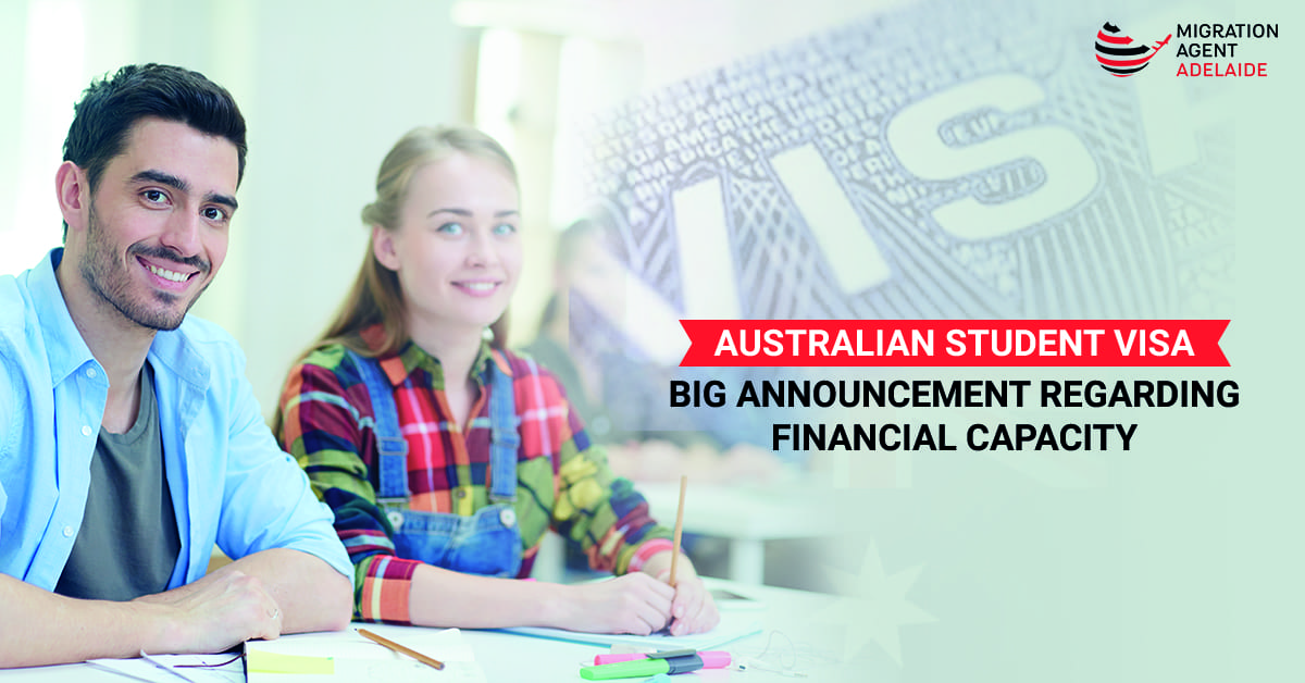 Australian Student Visa: Big Announcement Regarding Financial capacity